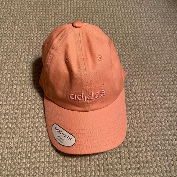 Peach Adidas women's baseball cap
